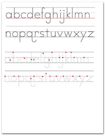 small letter alphabets sample worksheet